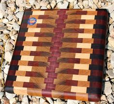 Gorgeous Endgrain Cutting Board CB 1426 by hojowoodworking on Etsy, $75.00