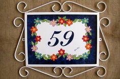 Número para Residência | Ateliê Léa Cury | Elo7