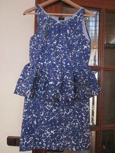 La Porta Magica - Ve a la moda cosiendo tu propia ropa. Blog de costura facil.: Desafío...Tutorial paso a paso para hacer Tu Peplum Dress?