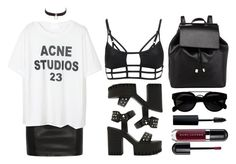 """""""23"""" by baludna ❤ liked on Polyvore featuring Charlotte Russe, BLK DNM, One Teaspoon, Barneys New York, Marc Jacobs and MAC Cosmetics"""