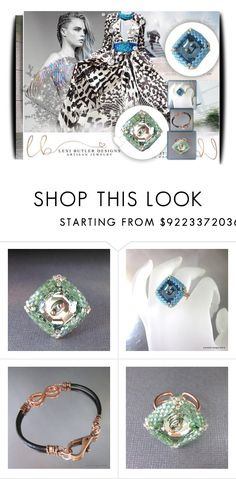 """Lexi Butler Designs 2"" by amerlinakasumovic ❤ liked on Polyvore featuring Black Swan, Jenny Packham, ring, bracelet and lexibutlerdesigns"