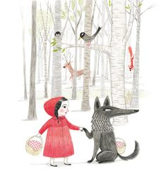 Little Red Riding Hood: Mar Ferrero Little Red Hood, Little Red Ridding Hood, Red Riding Hood, Illustration Inspiration, Children's Book Illustration, Food Illustrations, Charles Perrault, Psychedelic Drawings, Fairytale Art