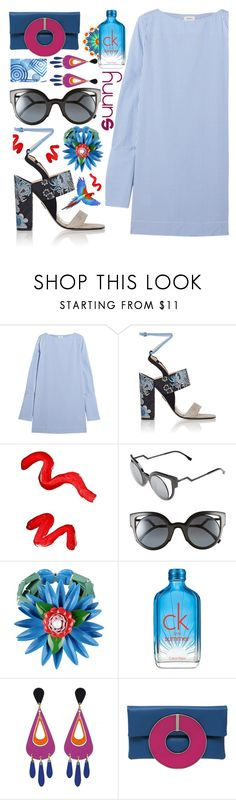 """Vacation"" by sunnydays4everkh ❤ liked on Polyvore featuring Totême, Paul Andrew, Topshop, Fendi, Dsquared2, Calvin Klein, Design Element and Sylvio Giardina"