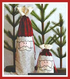 Santa's Gift Bags Sewing Pattern by Suzn Quilts