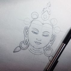 #sketch #sketchbook #sketchpad #whitetara #tara #deity #doodle #wip #instagood #instagram #ink #pencil #tattoo #tatu #lead #blackandgrey #tibetan #neotraditional #asianart #himalayanart #japanesecollective