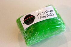 Teenage Mutant Ninja Turtle party - Ninja Ooze (Play doh)