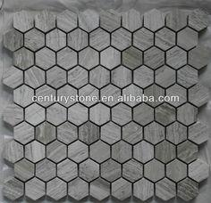 Polished 12x12 lantern light bianco white wooden marble flooring mosaic tile