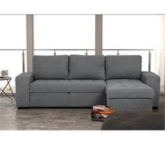 Chaise longue reversible tela con cama HARRY Couch, Furniture, Home Decor, Sleeper Couch, Tela, Flats, Beds, Chaise Longue, Settee