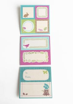 """Woodland Nature Label Set 4.99 at shopruche.com. Add a personalized touch with these printed nature-inspired labels., 80 adhesive labels,  Square labels: 1.5"""" x 1.5"""",  Rectangular labels: 1.5"""" x 3.4"""""""