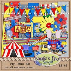 Lisa Campbell Designs: Natalie has just released a Dumbo inspired kit....sooooo cute!