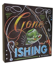Look at this 'Gone Fishing' Box Sign on #zulily today!