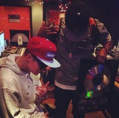 Justin working in the studio