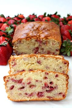 Strawberry Rum Pound Cake from @foodfanatical