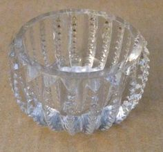 Antique Vintage 1920s Early American Clear Cut Crystal Double Prism Zipper Pattern Glass Open Salt Cellar & Antique cut crystal salt cellar...lost count of the number Iu0027ve ...