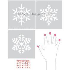 Winter-Schneeflocke-Weihnachts DIY Fertigkeit-Schablonen-