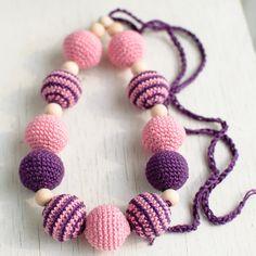 Nursing necklace / Teething necklace  Purple Pink by SvetlanaN, $26.00