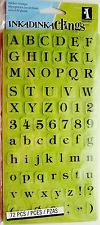 HEIRLOOM TYPE ALPHABET Rubber Stamp Set 9 Inkadinkado Cling Stamps