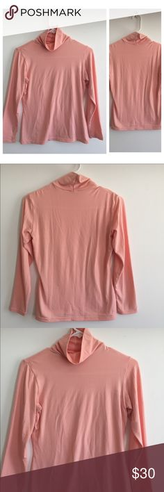 Uniqlo Pink Super Stretch Heattech Turtleneck Great condition super stretch turtleneck by Uniqlo! Bought in Japan size large but fits like a US size medium so listed as such. Great for layering! Uniqlo Tops