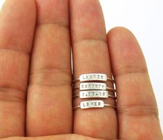 AUTUMN SALE Petite and Dainty Personalized Stackable by SilverMore