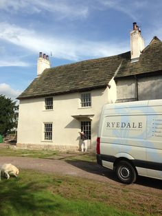 A grade II listed building in North Yorkshire, newly lime rendered with a natural finish top coat.