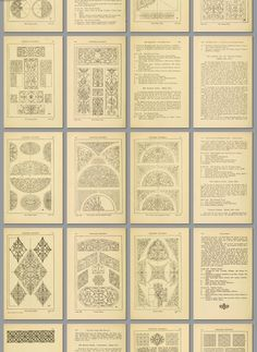 """Handbook of Ornament: A Grammar of Art Industrial and Architectural Designing in All Its Branches, for Practical As Well As Theoretical Use, by Franz Sales Meyer.  300 plates and numerous illustrations in the text. First published 1888; 6th edition 1904""  (568 pages, full text online)"