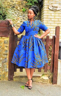 BINA African print dress - Women's style: Patterns of sustainability African Print Skirt, African Print Dresses, African Print Fashion, Africa Fashion, African Prints, African Fabric, Tribal Fashion, Fashion Women, Short African Dresses