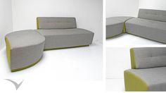 """Sofa Modular """"SOG""""  inspirado en las puntadas y abotonados clásicos españoles reinterpretados en formas y colores que estilizan el espacio.Fotografia: Fabian Virviescas https://instagram.com/vircorpdesign/"""