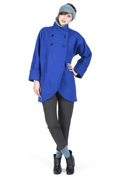 Candace Coat Royal Blue | Women's Outerwear | In God We Trust NYC