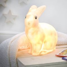 Rabbit night light which emits a warm comforting glow - Egmont Heico Lamps