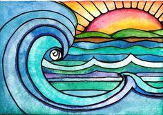 Wild Surf daarom een afdruk van mijn schilderij dat ik heb met Windsor gemaakt en Newton aquarel, Sakura Ink inkt en kleurrijke Sakura gel pennen. Deze wordt afgedrukt op HP premium zacht glanzend papier met archival inkt Epson (duurt 90 jaar)... met prachtige kleur en kwaliteit... Bedankt voor het kijken..! U kunt kopen in 3 verschillende maten: (email me voor grotere maten) 5 x7 inch 8 x 10 inch 11 x 14 inch Alle illustraties, reproducties en fotos zijn © RobinMeadDesigns verkoop van…