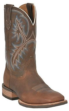 Ariat® Quickdraw™ Mens Brown Oiled Rowdy Double Welt Wide Square Toe Western Boots | Cavender's Boot City