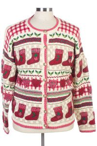 Multicolor Ugly Christmas Cardigan 27000