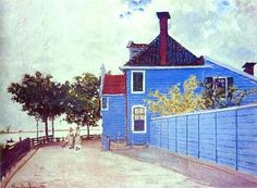 Monet, Claude (1840-1926) - 1871 The Blue House in Zaandam (Private Collection)