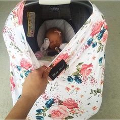 Car seat covers that double as a nursing cover. Stretches to fit many carseats. What a cute baby shower gift. Baby Outfits, My Baby Girl, Our Baby, Baby Girl Gear, Baby Baby, Baby Girls, Baby Bikini, My Bebe, Shower Bebe