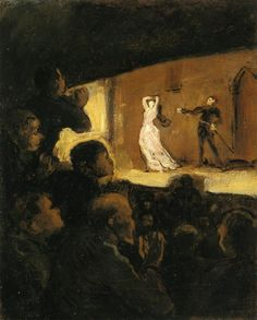 At the Theater (Honore Daumier - No dates listed)