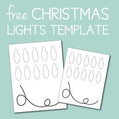 Free Christmas Lights Template. Click through to find gifts, decor, and more for Christmas, Thanksgiving, and more.  Or shop our 1000+ designs for all of life's journeys. Weddings, birthdays, new babies, anniversaries, and more. Only at Aesthetic Journeys
