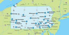 penn state university location map - Bing Images