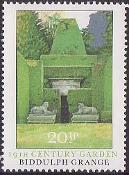 Century Garden, Biddulph Grange from 1983 'British Gardens' Biddulph Grange Gardens, Royal Mail Postage, British Garden, Old Stamps, Postage Stamp Art, Small Art, Stamp Collecting, Great Britain, Poster