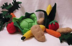 The Ultimate Vegetable felt play food collection. $35.00, via Etsy.