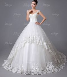 Ball Gown Wedding Dresses : vintage wedding dress lace wedding dress cathedral by fitdesign For more bridal