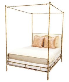 I want this gold canopy bed! But not for $5000... Whhhhaaaatttt.