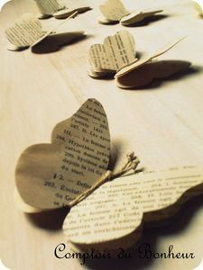 Butterflies from old book pages...