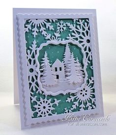 Good Wednesday morning and welcome to the CLASSroom. Have you fallen in love with all the full sized background and cutting plate dies? I sure have. I especially love the Impression Obsession Snowflake Background and thought it would fun to...