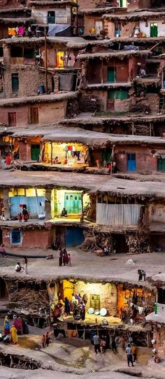 Totaly Outdoors: The mountain village of Masuleh in Iran where houses are built into the mountain side