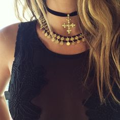 """WEBSTA @ child_of_wild - ✚✚✚ BLACK l i s t e d ✚✚✚ new gold chokers added to www.childofwild.com ✚✚✚ ps add us on snapchat """"the.rabbithole"""" for bts at our HQ ✚✚✚✚✚✚✚✚✚ #childofwild #chokers #seeyouatmidnight"""