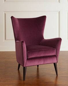 Shop Becca Velvet Wing Chair from Sam Moore at Horchow, where you'll find new lower shipping on hundreds of home furnishings and gifts. Table Decor Living Room, Living Room Modern, Living Rooms, Cool Furniture, Furniture Design, Sofa Design, Interior Design, Mantle Piece, Wing Chair