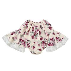 b704a1e869 Birdfly Baby Girls Lace Long Sleeves Romper Onesies Vintage Floral Bodysuit Infants  Toddlers Dress Up Clothes