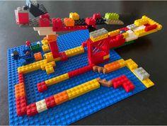 Build a marble run using Lego Baseboard, Tilt, Bricks, Problem Solving, Mathematics, Your Child, Imagination, Lego, Scale