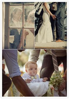 How fricken cute! Baby ring bearer and people carry him down the idle in a box. Ugh, melts me heart.