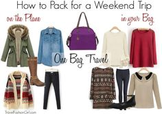 To show you that you can travel light using a capsule wardrobe even with winter clothing, I have chosen to use a small carry-on size bag using standard ziploc bags to show you how to pack for a weekend trip.